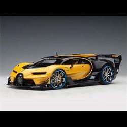 BUGATTI Vision Gran Turismo Yellow, Blue Carbon AUTOart 1:18 Composite