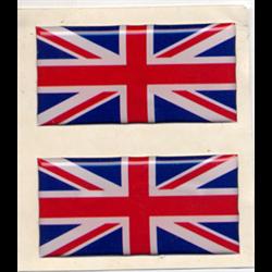 Sticker 2 Union Jack Flag UK United Kingdom Great Britain King's Colours 2.5x5cm
