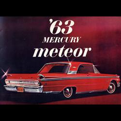 1963 MERCURY Meteor Sales Catalog-Brochure