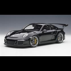 PORSCHE 911(991) GT3 RS Gloss Black /SILVER WHEELS AUTOart 1:18 Diecast