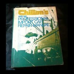 Professional Import Car Chilton's Repair Manual (1973)