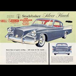 1958 STUDEBAKER Silver Hawk Sales Catalog-Brochure