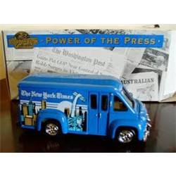 Dodge Route Van 'NY Times' Matchbox Power of the Press 1:43 Diecast