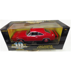 Dodge Charger 500 1969 red ERTL 1:18 Diecast