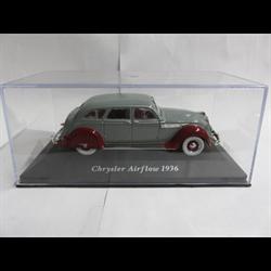 Chrysler Airflow 1936 Grey & Maroon - IXO Altaya 1:43 Diecast
