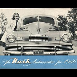 1946 NASH Ambassador Sales Catalog-Brochure