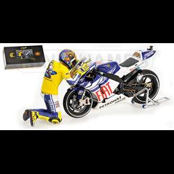 Yamaha YZR-M1 Valentino Rossi Moto GP 2010 Valencia Minichamps 1:12 diecast