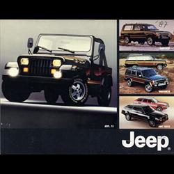1987 JEEP Full-line Sales Catalog-Brochure