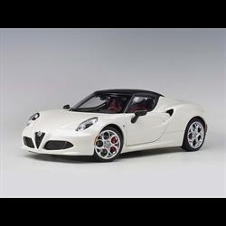 Alfa Romeo 4C Spider bianco trofeo, white AUTOart 1:18 Diecast