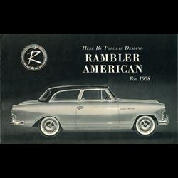 1958 AMC Rambler American Sales Catalog-Brochure
