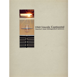 1968 LINCOLN Continental Large Sales Catalog-Brochure