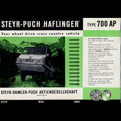 Steyer-Puch Haflinger 700AP Sales Brochure