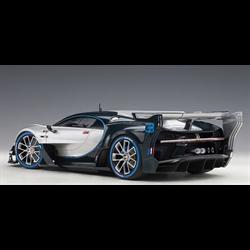 BUGATTI Vision Gran Turismo Silver, Blue Carbon AUTOart 1:18 Composite