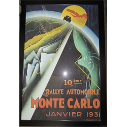 Monte Carlo Rally Reproduction Poster 1931 (WILL NOT SHIP)