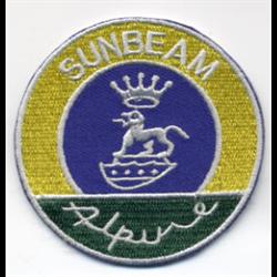 "Embroidered Patch ""Sunbeam Alpine"" cloth badge logo iron-on"