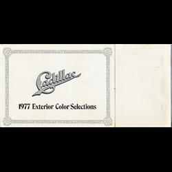 1977 CADILLAC Exterior Color Selections Sales Catalog-Brochure