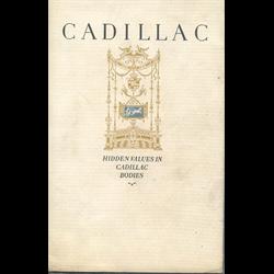 1925 CADILLAC - Hidden Values in Cadillac Bodies - Sales Catalog-Brochure