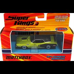 Plymouth Barracuda 1971 green, black Matchbox 1:43 Diecast