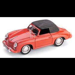 Porsche 356C Spyder Chiusa 1963-65 Top Up red - Brumm 1:43 Diecast model
