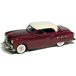 Packard Mayflower 1951 Maroon Cream Top - Brooklin 1:43 Diecast