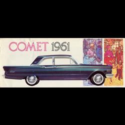 1961 MERCURY Comet Sales Catalog-Brochure