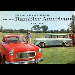 1959 AMC Rambler American Sales Catalog-Brochure