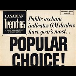 1965 GM Canadian Trend Publication Sales Catalog-Brochure