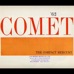1962 MERCURY Comet Canadian Sales Catalog-Brochure