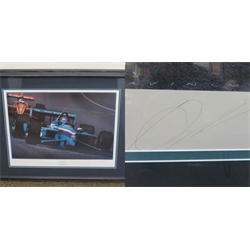 Canadian Blue - Greg Moore at Michigan 1998 by Gavin MacLeod signed by Moore