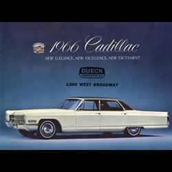 1966 CADILLAC Full-line Sales Catalog-Brochure