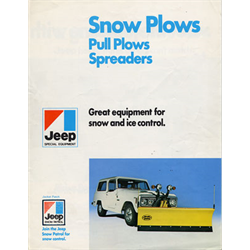 1970 JEEP Snow Plows Special Equipment Sales Catalog-Brochure