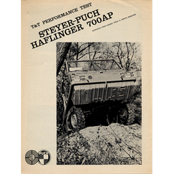 Steyer-Puch Haflinger 700AP Track & Traffic Performance Test Brochure