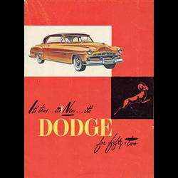1952 DODGE Full-line Sales Catalog-Brochure