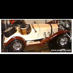 Mercedes Benz SSK convertible 1928 beige-1:18 Diecast by BBURAGO