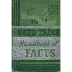 1941 Chevrolet and GMC - Used Truck Handbook of Facts -Sales Catalog-Brochure