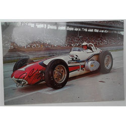 Post Card A.J. Foyt 1961 signed