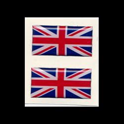 Sticker 2 Union Jack Flag UK United Kingdom Great Britain King's Colours 1.5x3cm