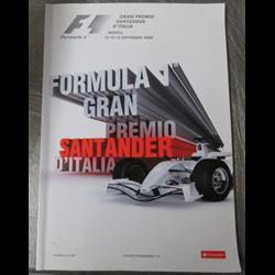 2005 Grand Premio Santader d'Italia Monza Official Racing Program