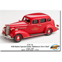 Buick Special 4 Door Sedan 1936 Red -  Brooklin 1:43 Diecast