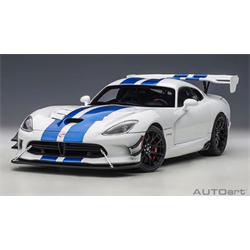 DODGE VIPER  ACR 2017  Pearl White with Blue Stripes  - AUTOart 1:18 Diecast