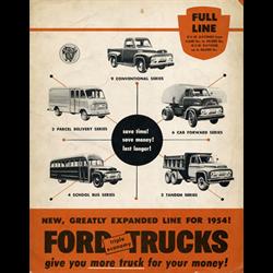 1954 FORD Trucks Full-line Sales Catalog-Brochure