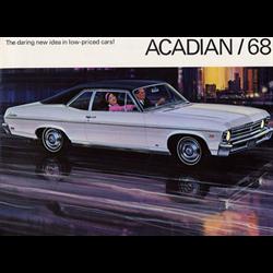 1968 GM Acadian Sales Catalog-Brochure