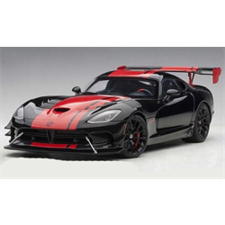 DODGE VIPER GTS-R 1:28 EDITION ACR (BLACK W/ RED STRIPES) - AUTOart 1:18 Diecast