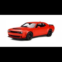 Dodge Challenger Demon red 1:18 resin model by GT Spirit
