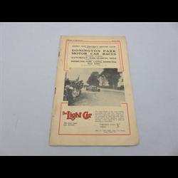 1934 Donington Park Motor Car Races  Program