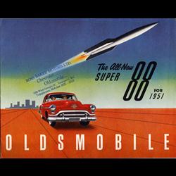1951 OLDSMOBILE Super 88 Sales Catalog-Brochure