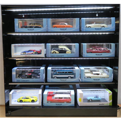Display Case for 1:43 and 1:32 c/w LED Lights and sliding doors   - MJ