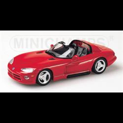 Dodge Viper 1993 Conv red - Minichamps 1:43 Diecast