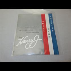 1951 Henry J Sales Catalog-Brochure