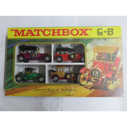 Famous Cars of Yesteryear 4 car set Matchbox Diecast